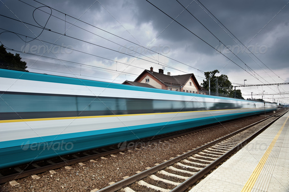 fast train - Stock Photo - Images