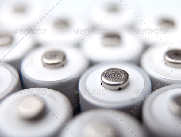 lots of AA rechargeable batteries - Stock Photo - Images