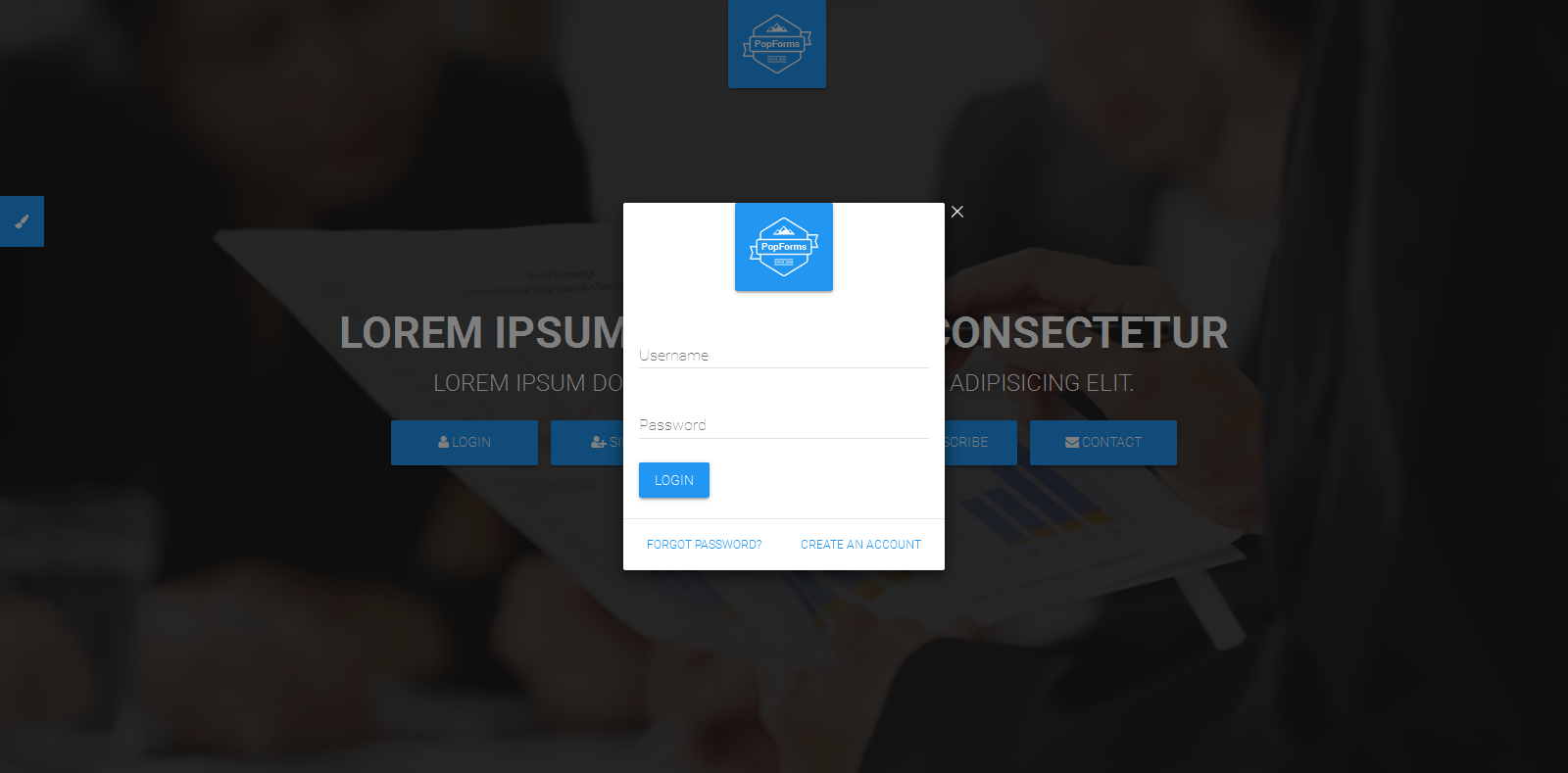 Popforms material design responsive bootstrap modal form set by previewscreenshotsscreenshot 01g falaconquin