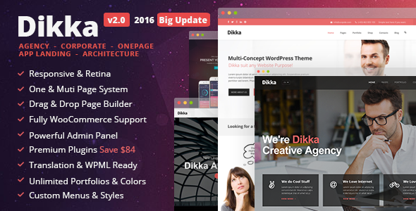 Dikka - Responsive Multi-Concept WordPress Theme - Corporate WordPress