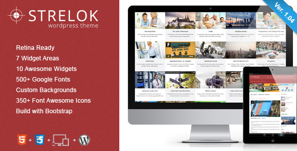 Strelok - Retina Responsive WordPress Blog Theme - Title Theme