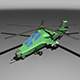 Lowpoly Z-10 Attack Helicopter - 3DOcean Item for Sale