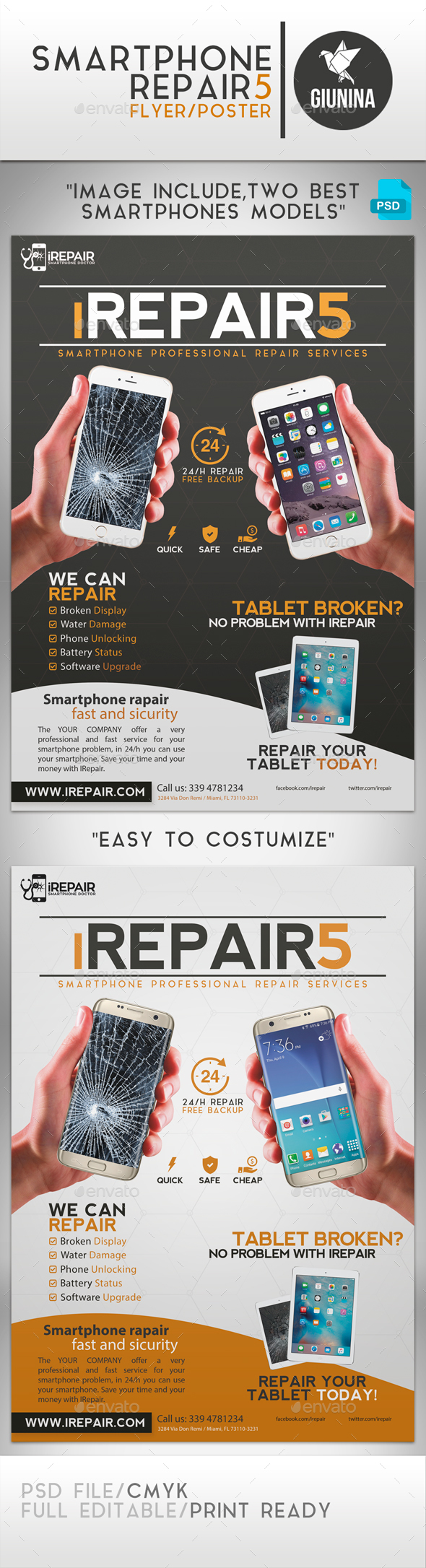 Smartphone Repair 5 Flyer/Poster - Commerce Flyers