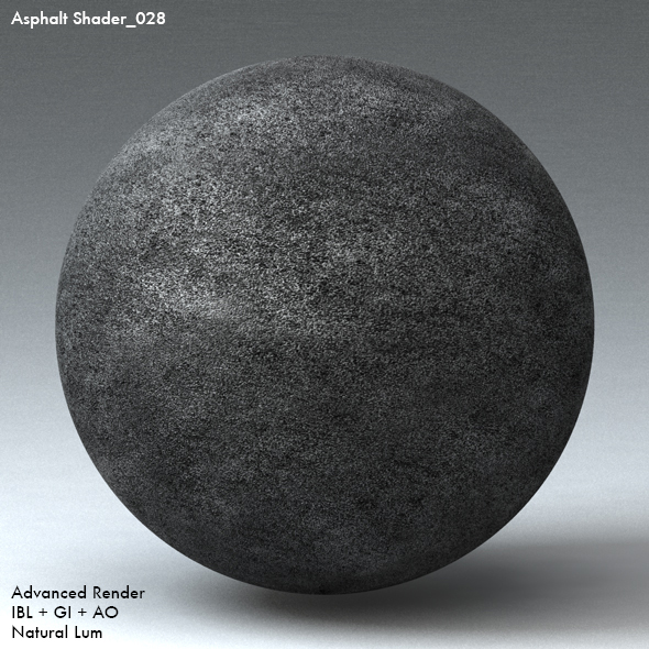 Asphalt Shader_028 - 3DOcean Item for Sale