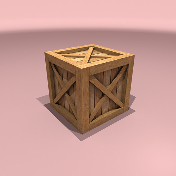 Wooden Box - 3DOcean Item for Sale