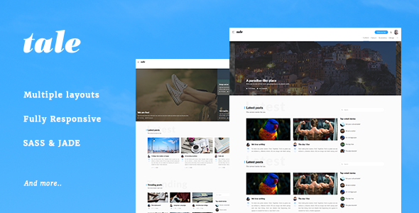 Tale - Strorytelling and Magazine Bootstrap Template - Miscellaneous Site Templates