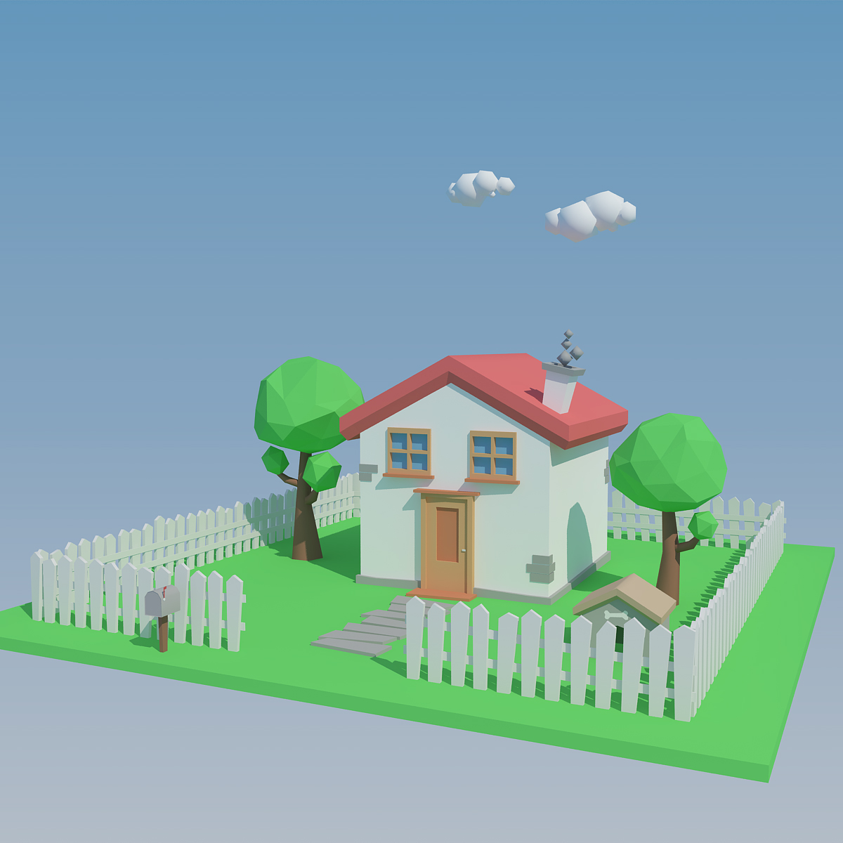 Low Poly House by 3DSmartphone | 3DOcean