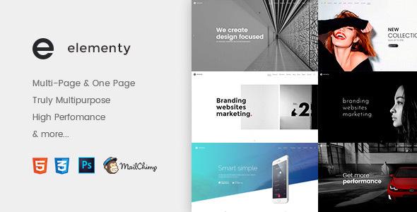 Elementy – Multipurpose One & Multi Page Template