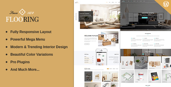 Flooring – Responsive & Multipurpose WordPress Theme