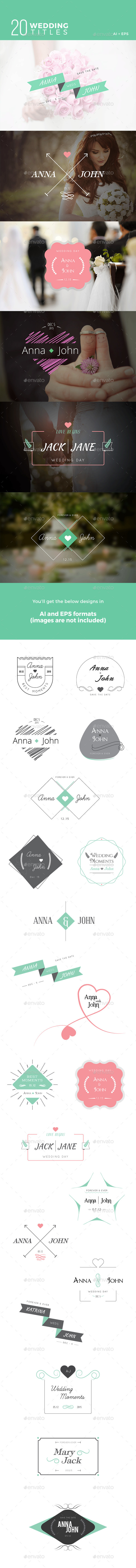 Wedding Titles - Badges & Stickers Web Elements
