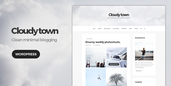 Cloudy Town – Clean Minimal Blog Theme
