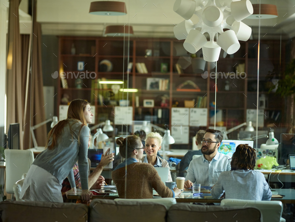 Creative team having discussion - Stock Photo - Images