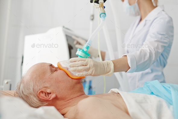 Anesthesia before operation - Stock Photo - Images