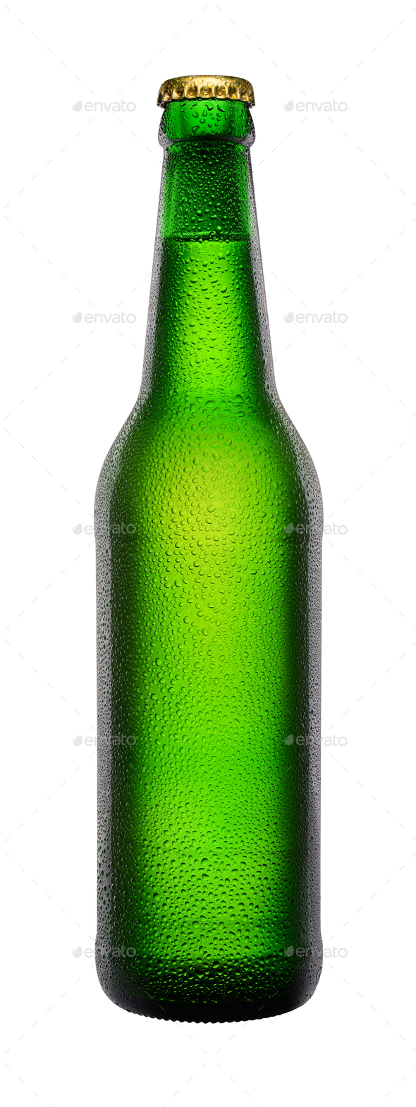 Green bottle of beer - Stock Photo - Images