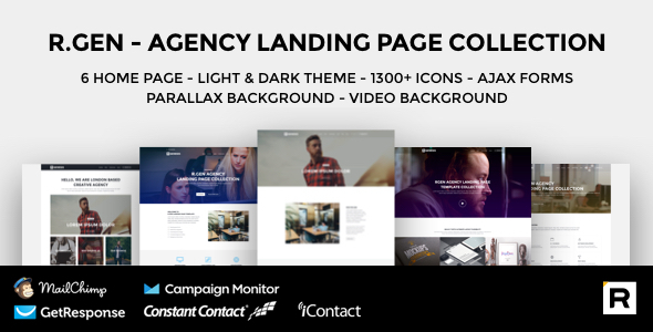 R.Gen – Agency Landing Page Collection