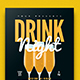 Drink Night Flyer-Graphicriver中文最全的素材分享平台