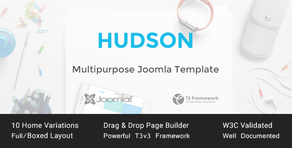 Hudson – Multipurpose Joomla Template