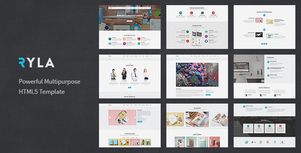 Ryla - Multipurpose Single/Multi Page Template - Corporate Site Templates