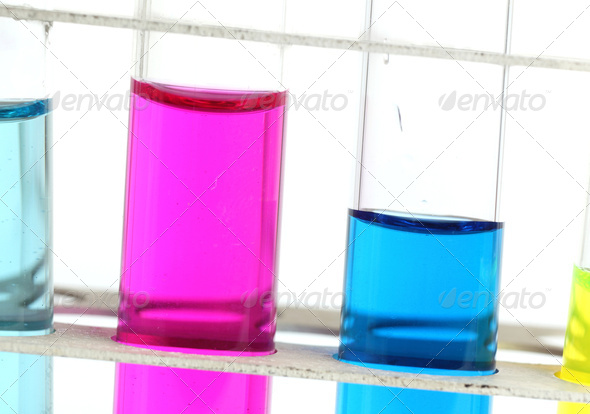 science concept - chemistry lab glassware equipment (test tubes - Stock Photo - Images