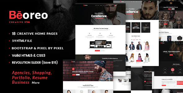 Creative MultiPurpose - Beoreo - Corporate Site Templates