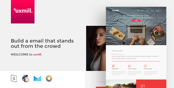 Uxmill. - Responsive Email Template - Email Templates Marketing