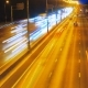 Highway Traffic At Night With Car Lights Tails - VideoHive Item for Sale