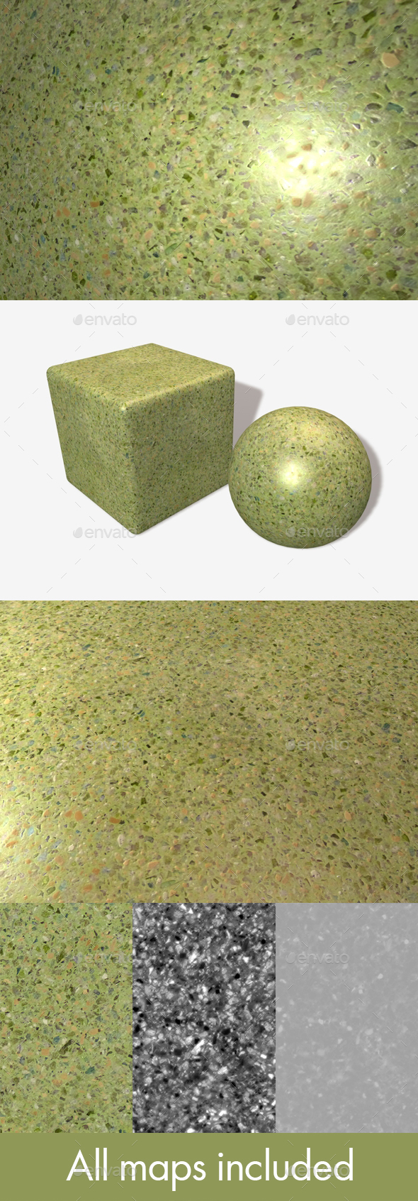 Green Cultured Marble Seamless Texture - 3DOcean Item for Sale