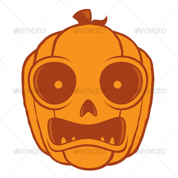 Frightened Jack-O-Lantern - Halloween Seasons/Holidays