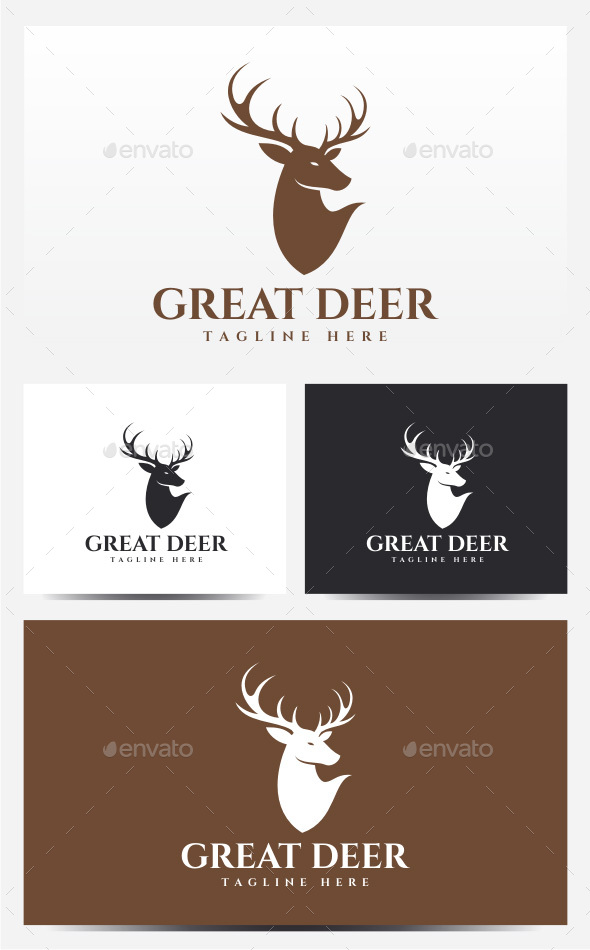 Great Deer Logo - Animals Logo Templates