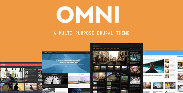 Omni - 4 in 1 - Multi-purpose Business & Magazine Styles Drupal Themes - Drupal CMS Themes