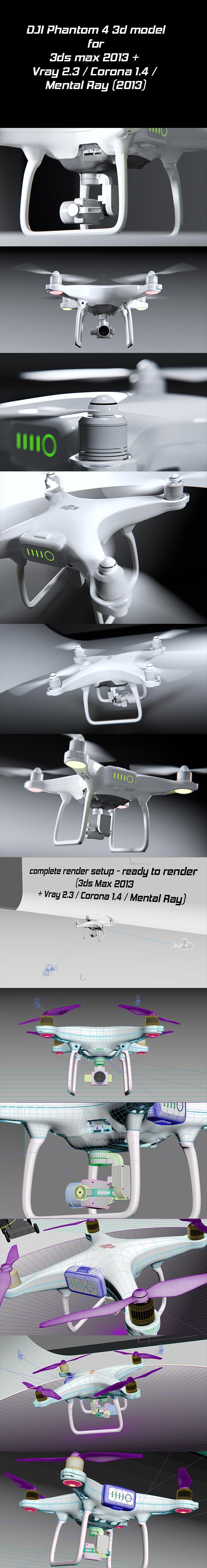 DJI Phantom 4 quadcopter - 3DOcean Item for Sale