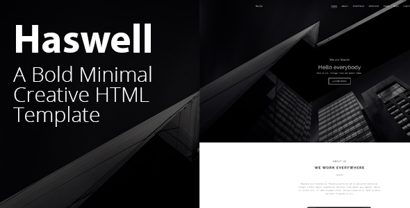 Haswell – Agency & Portfolio HTML, parallax, Template