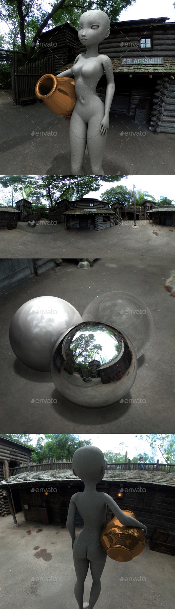American Fort Camp Grounds HDRI - 3DOcean Item for Sale