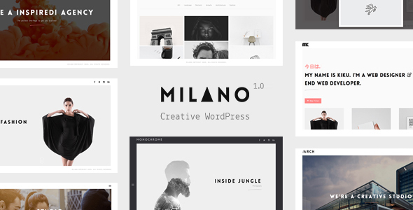 Milano | Creative Minimal WordPress Theme