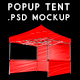 Pop-Up Tent Mockup: Easily Customizable PSD