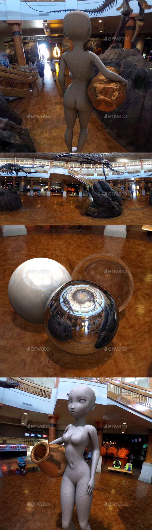 Dinosaur Museum HDRI - 3DOcean Item for Sale