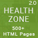 HealthZone - Daring Multi Concept HTML5 Template for Medical, Nursing, Yoga, Sports, Gym & Fitness - ThemeForest Item for Sale