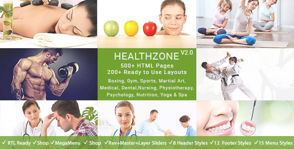 HealthZone - Daring Multi Concept HTML5 Template for Medical, Nursing, Yoga, Sports, Gym & Fitness - Health & Beauty Retail