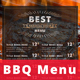 BBQ Steak Menu - GraphicRiver Item for Sale