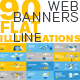 Flat Line Web Banners - GraphicRiver Item for Sale