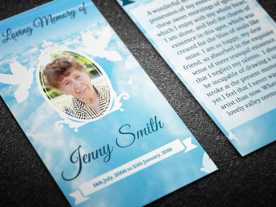 Peace Funeral Prayer Card Template   Miscellaneous Print Templates.  01_preview 01 ...  Prayer Card Template Free