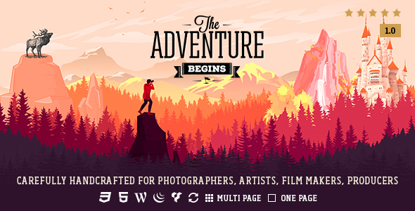 Adventure - Responsive Photography Theme
