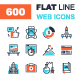 Flat Line Web Icons - GraphicRiver Item for Sale