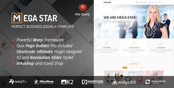 Megastar - Business Joomla Template - Business Corporate