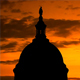 United States Capitol Dome Silhouette Over Sunrise - VideoHive Item for Sale