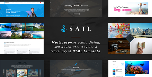 Sail - Multi-Purpose Scuba Diving, Sea Adventure & Travel agency HTML Template
