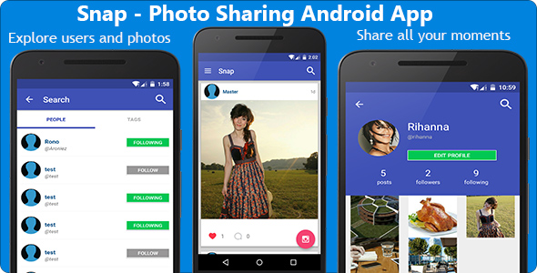 Snap - Photo Sharing Android App - CodeCanyon Item for Sale