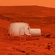 Small Base On Mars In Dust Storm - VideoHive Item for Sale