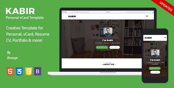 Personal vCard Template – Kabir