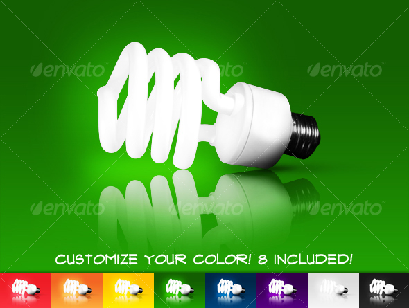 Compact Fluorescent Light Bulb - Technology Isolated Objects